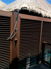 Secluded Outdoor Shower Area