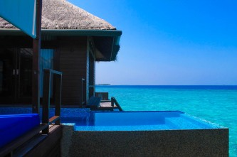 Side View of the Infinity Plunge Pool