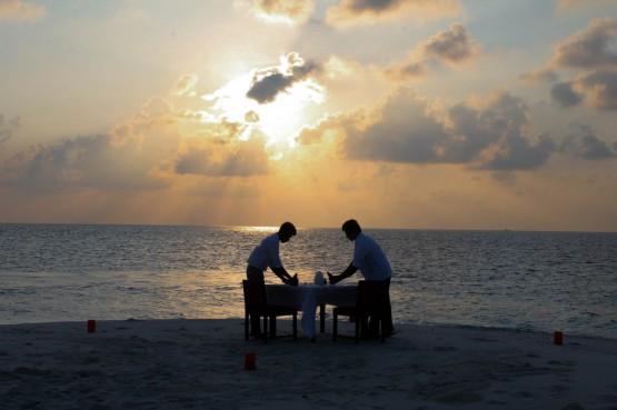 Staff Preparing the Table