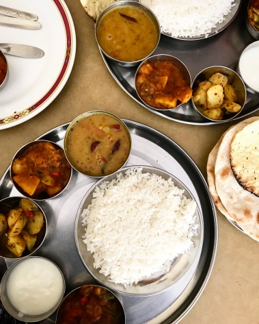 traditional thaali vegetarian indian food punjabi restaurant
