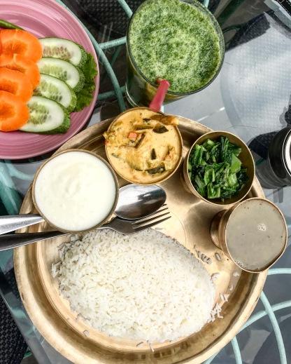 vegetarian thaali or2k restaurant