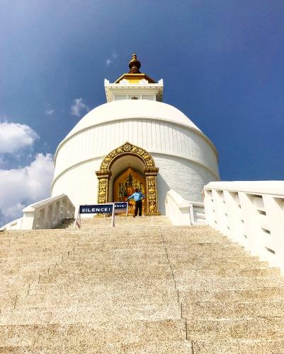 world peace pagoda shanti stupa pokhara nepal