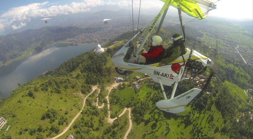 ultralight flight pokhara