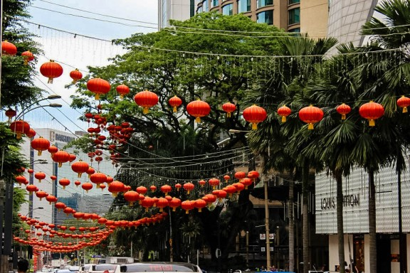 Chinese New Year Celebrations at Bukit Bintang in Kuala Lumpur