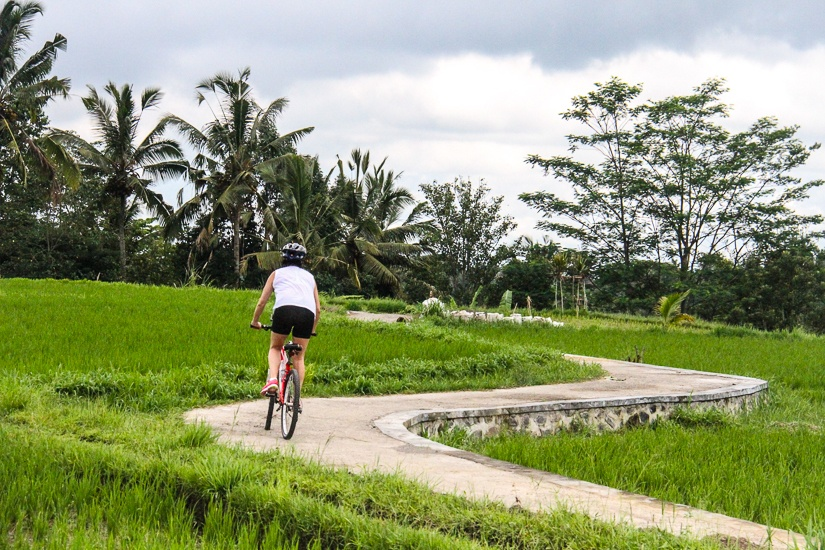 biking in ubud