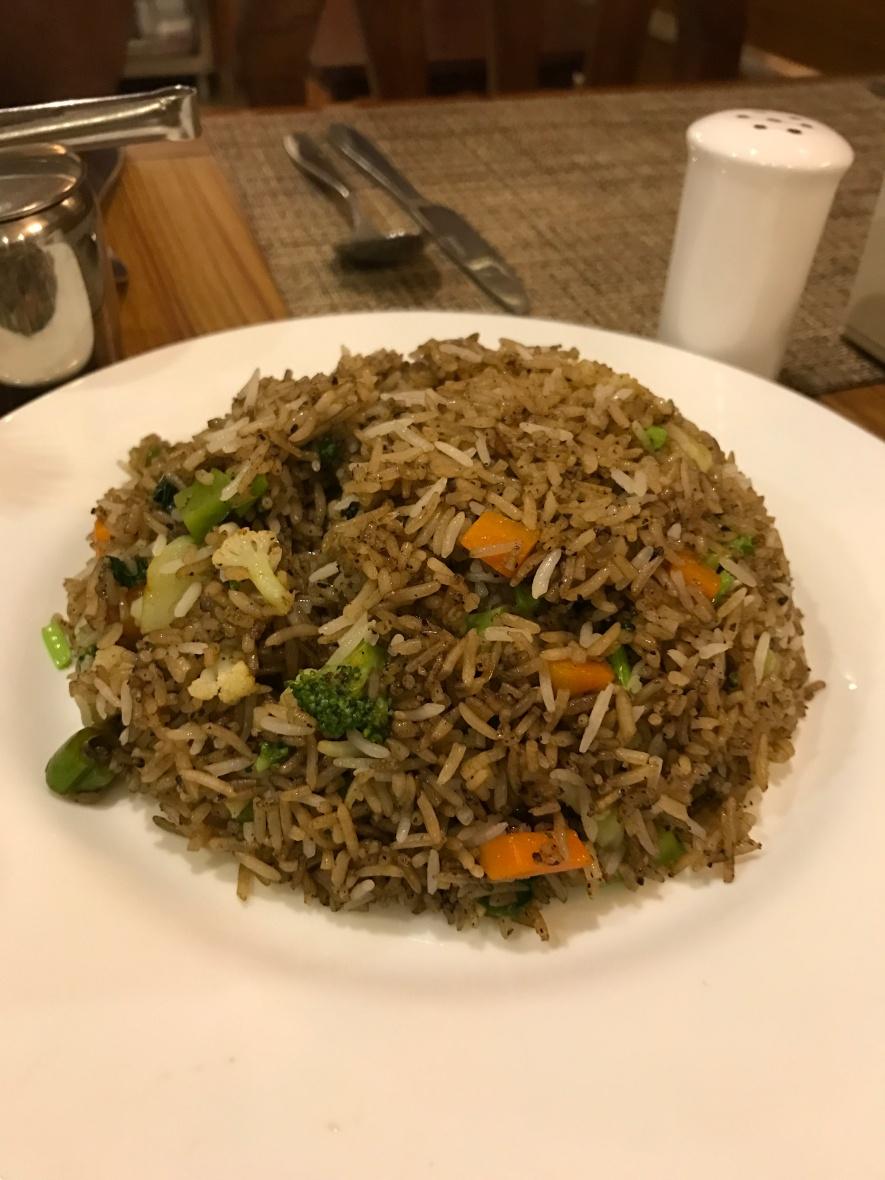 veg fried rice kathmandu hotel friends home