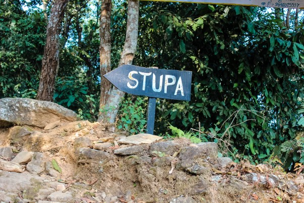 Sign Boards Leading the Way to the Shanti Stupa