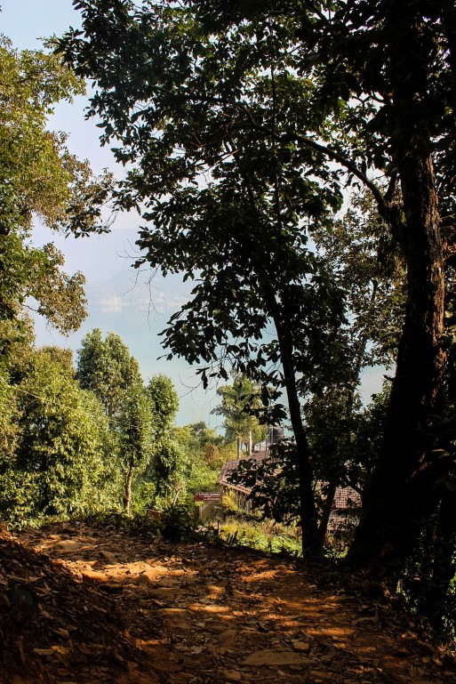 The Hiking Trail for World Peace Pagoda Pokhara Nepal