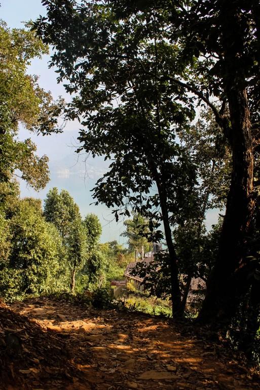 The Hiking Trail for World Peace Pagoda Pokhara Nepal