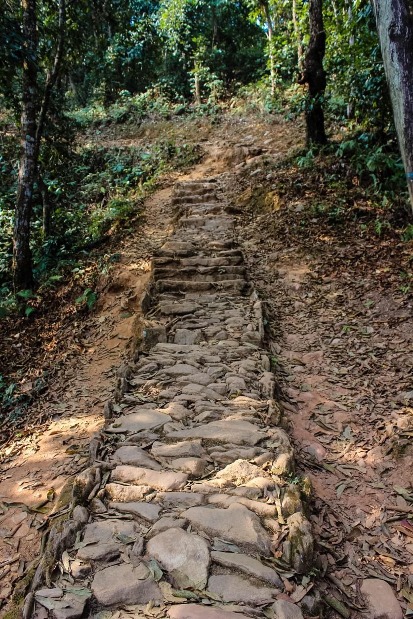 Stone Walkaway along the trail