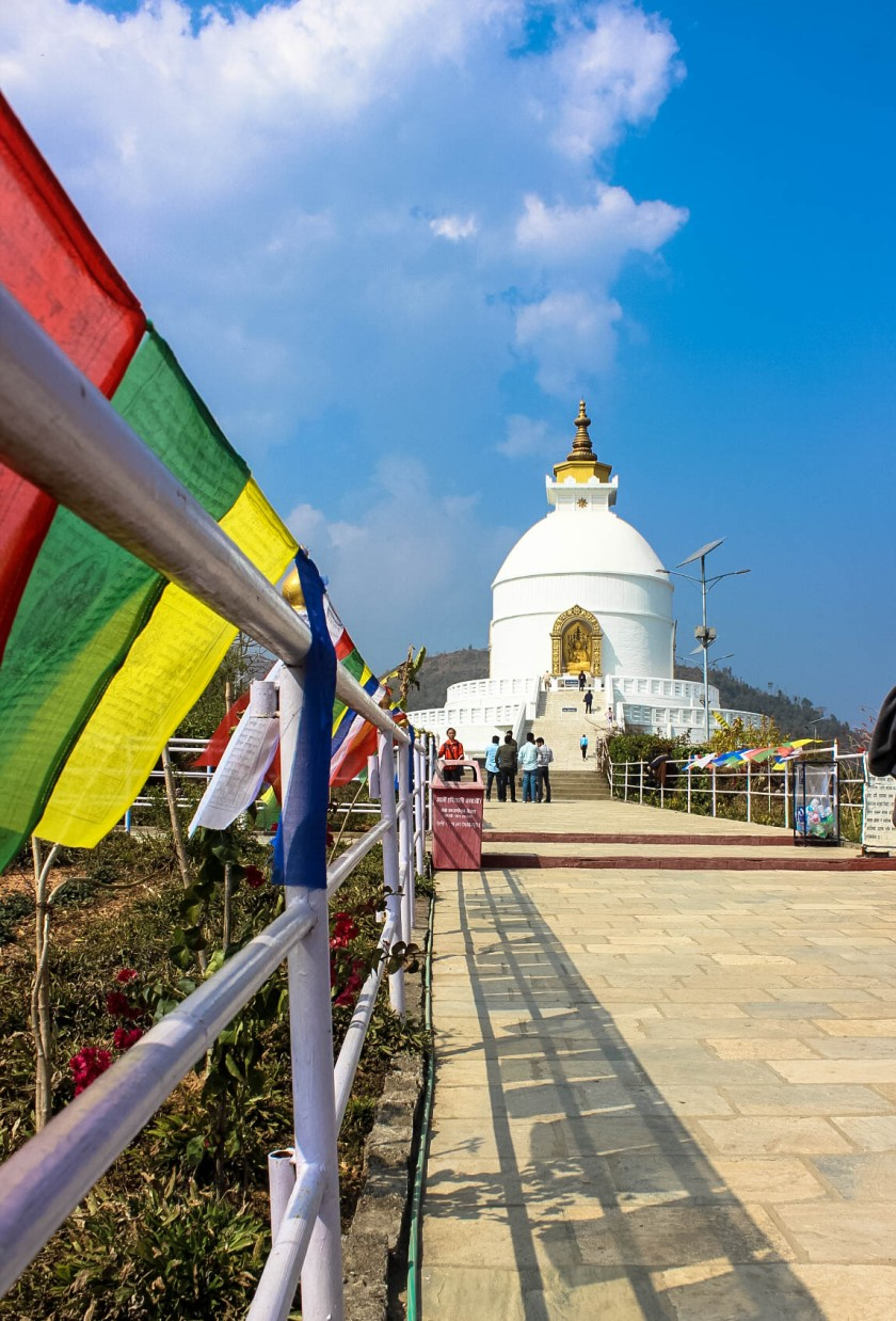 The World Peace Pagoda or Shanti Stupa in Pokhara, Nepal