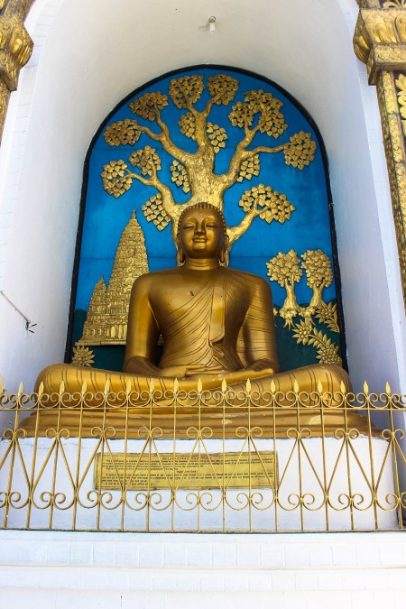 Buddhist Statue at the World Peace Pagoda Pokhara Nepal