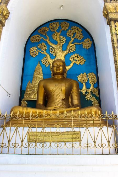 Buddhist Statue at the World Peace Pagoda Pokhara Nepal