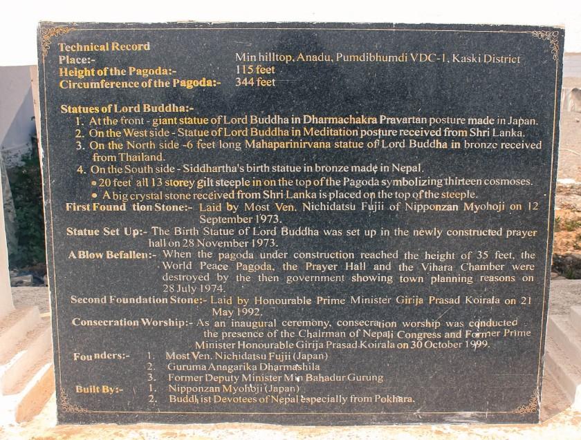shanti stupa facts