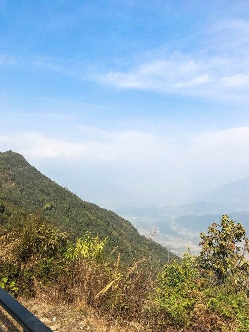 views from sarangkot in pokhara