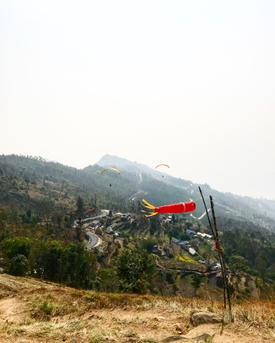 sarangkot paragliding nepal