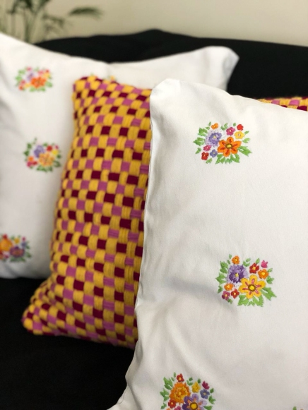 Cute Embroidered Cushions by The Home Canvas